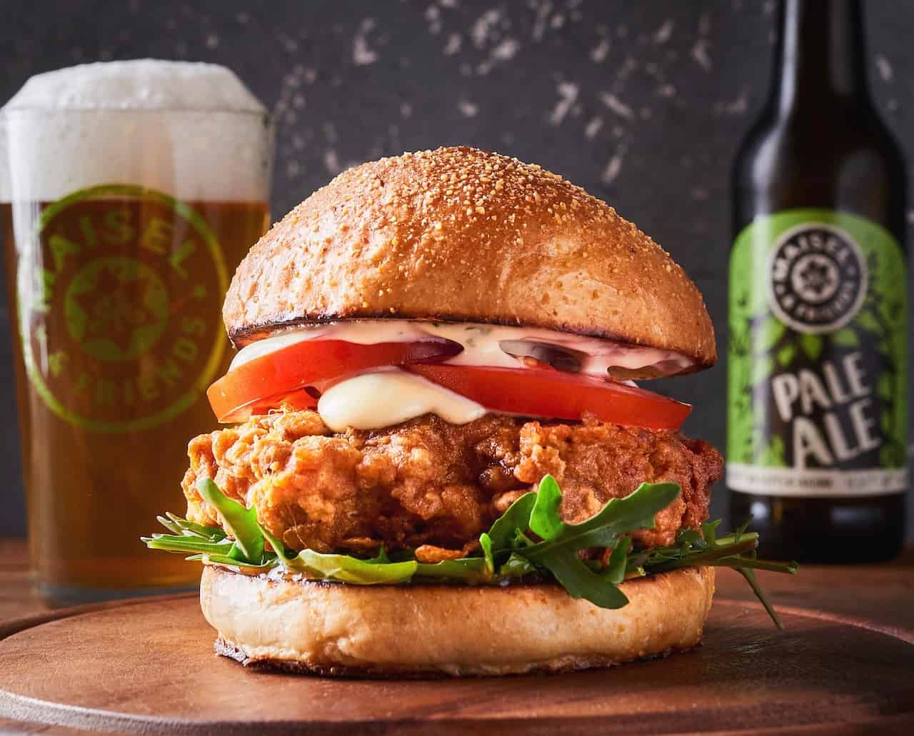 Crispy Chicken Burger mit Estragon Mayo